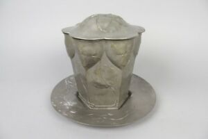 Rare Art Nouveau Orivit 2079 Pewter Cookie Jar