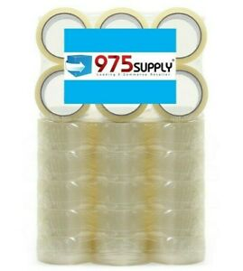 36 Rolls Box Carton Sealing Package Tape 2 Mil 2 X 50 Yards clear