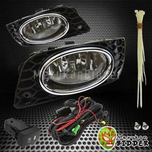 For Honda Civic Sedan 4dr 2012 Front Bumper Clear Fog Lights Pair Wiring Switch