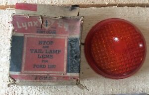 Vintage Lynx Eye 1937 Ford Tail Light Brake Light Nos Glass Lens Rat Rod Hot Rod
