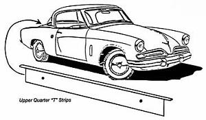 Studebaker Ck Coupe Hawk Upper Quarter T Strip 1953 1964 Free Shipping
