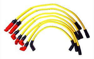 Gm 4 3 V6 96 07 High Performance 10mm Yellow Spark Plug Ignition Wire Set 29182y
