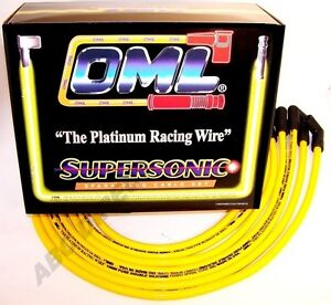 High Performance 10 Mm Yellow Spark Plug Ignition Wire Set 28343y