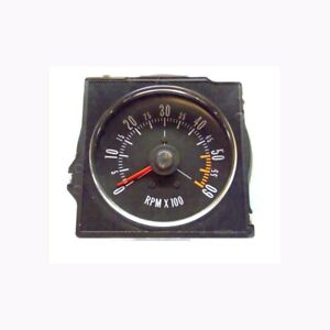 1970 72 Buick Gs Dash Tach With Flat Lens Factory Metal Housing