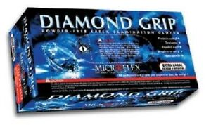 Microflex Mf300xl Diamond Grip Powder free Latex Exam Gloves case Of 10 Boxes