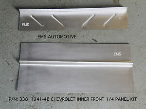 Chevrolet Chevy 2 Door Inner Quarter 1 4 Panel Kit 1941 1948 338 Ems