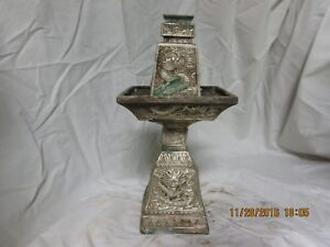 Bronze Incense Candle Holder Pair Ming 1368 1644 Ad Each 11 X 5 X 5 4lb