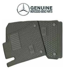 For Mercedes C250 C300 C350 E350 All Weather Floor Mats Grey Genuine Q6680714