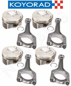 For Audi A3 A4 Tt Quattro Q5 Vw Jetta Set Of 4 Pistons Rings Connecting Rods