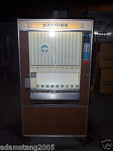 Vintage National Vendors 1971 Cm 72 Candy Vending Machine 10 Spot Old Antique