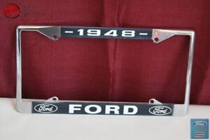 1948 Ford Car Pick Up Truck Front Rear License Plate Holder Chrome Frame New Fits Ford Prefect