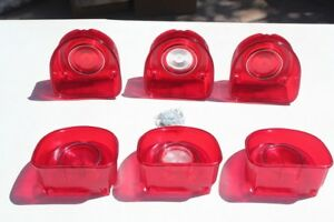 1968 Chevy Impala Tail Light Lamp Backup Lens Ornament Base Set New Right Left