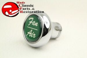 Deluxe Fan Air Cab Dash Knob Truck Hot Rat Street Rod Custom Rig Glossy Green