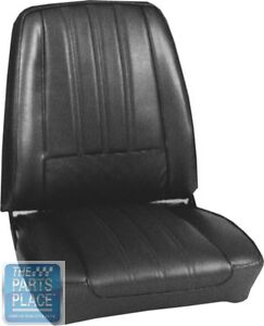 1968 Barracuda Deluxe Black Seat Covers Pui