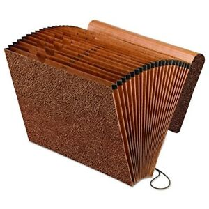 Cut File Folders Letter Size Leather Look Expanding File Assorted 21 Pockets