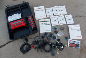 Snap On Mt2500 Scanner 5 Cartridges 10 Keys Cables Books Adapters Case