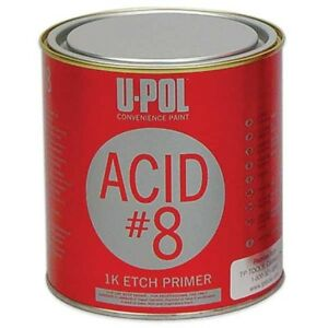 U Pol Acid 8 Self Etch Primer 1k Light Gray Quart 7201 32