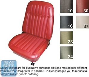 1969 Camaro Deluxe Comforweave Red Front Buckets Coupe Rear Seat Covers Pui