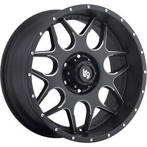 18x9 Black Milled Lrg 104 6x5 5 0 Rims Nitto Trail Grappler Lt295 70r18 Tires