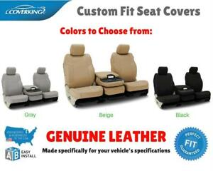 Genuine Leather Custom Fit Seat Covers For Chevy Express Van