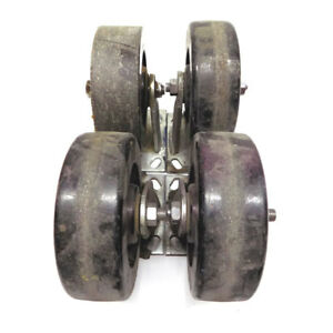 4 Colson 6 X 2 Series 4 Swivel Top Plate Heavy duty Casters 2 Fixed 2 Swivel