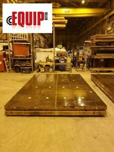T slotted Floor Plate 16ft X 10ft X 12 In Levelers Boring Mill Cnc Lathe