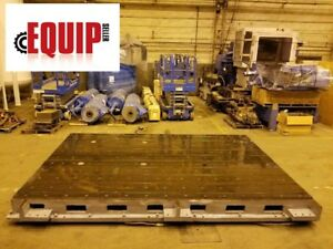 T Slotted Floor Plate 16ft X 10ft X 14in Levelers Boring Mill Cnc Lathe