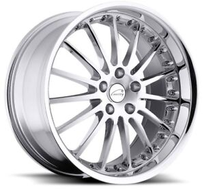 17x8 Coventry Whitley 5x108 Rims 42 Chrome Wheels Set Of 4