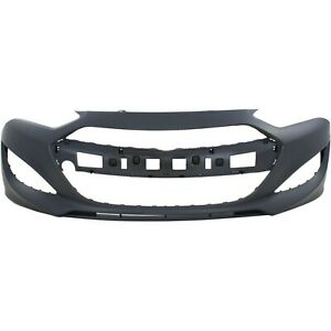 Front Bumper Cover For 2013 2015 Hyundai Genesis Coupe Primed W Fog Light Holes