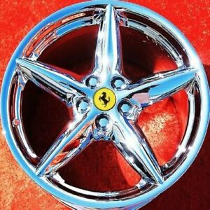 Set Of 4 Chrome 18 Ferrari 360 Modena Oem Wheels Rims 430 Mondial Nh1064
