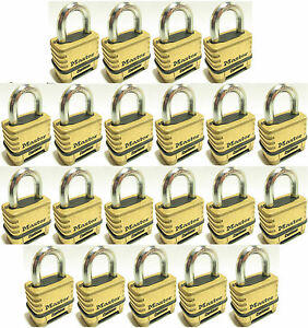 Combination Lock Set By Master 1175 lot Of 21 Resettable Brass Sealed Carbide