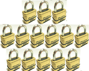 Combination Lock Set By Master 1175 lot Of 14 Resettable Brass Sealed Carbide