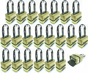 Combination Lock Set Master 1175 lot 21 Resettable Long Brass Sealed Carbide