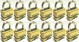 Combination Lock Set By Master 1175 lot Of 12 Resettable Brass Sealed Carbide