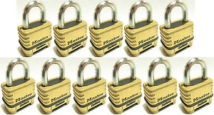 Combination Lock Set By Master 1175 lot Of 11 Resettable Brass Sealed Carbide