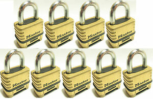 Combination Lock Set By Master 1175 lot Of 9 Resettable Brass Sealed Carbide