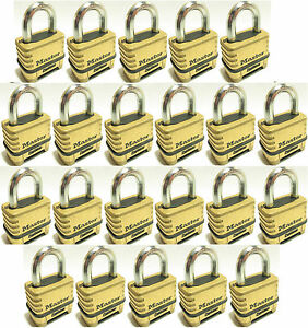 Combination Lock Set By Master 1175 lot Of 22 Resettable Brass Sealed Carbide