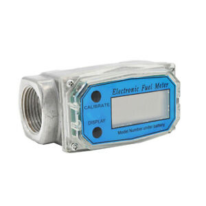 New Digital Diesel Oval Gear Fuel Flow Meter Bspt npt 1 10 100l min