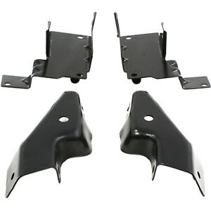 Bumper Bracket For 2003 2006 Chevrolet Silverado 1500 Set Of 4 Front Lh Rh