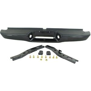 Step Bumper For 95 04 Toyota Tacoma Black Steel W Brackets Pads Fleet Styleside