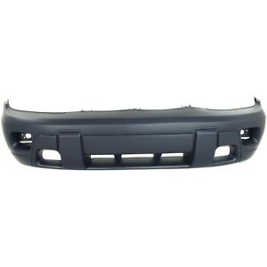 Front Bumper Cover For 2002 2005 Chevy Trailblazer W Fog Lamp Holes Primed Top