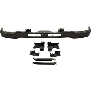 Front Bumper For 2003 2007 Gmc Sierra 1500 Painted Black W Mounting Bracket s