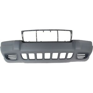 Front Bumper Cover For 99 2003 Jeep Grand Cherokee Textured