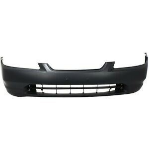 Front Bumper Cover For 1998 2000 Honda Accord Coupe Primed Plastic