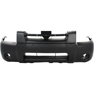Front Bumper Cover For 2001 2004 Nissan Frontier W Fog Lamp Holes Primed