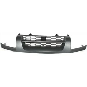 Grille For 2002 2004 Nissan Xterra Gray Plastic