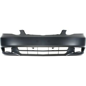 Bumper Cover For 2003 2004 Toyota Corolla Front Plastic With Fog Light Holes