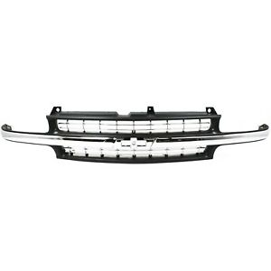 Grille For 99 2002 Chevrolet Silverado 1500 2000 2006 Tahoe Black Plastic