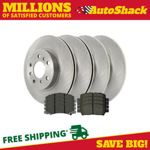 Front And Rear Rotors And Ceramic Pads For 2010 2011 2012 2013 Chevrolet Impala