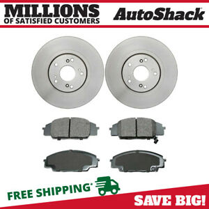 Front Rotors And Ceramic Pads For 2007 2009 2010 Acura Csx 2006 2011 Honda Civic